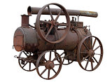 Mobile steam engine.