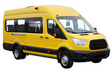 Yellow minibus.