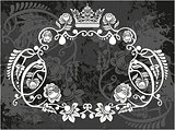 Decorative frame with crown