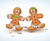 Gingerbread cookies. vector illustration for new year s day, christmas, winter holiday