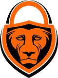 lion lock security logo