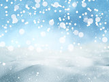 3D Christmas snow background