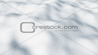 3D close up snow