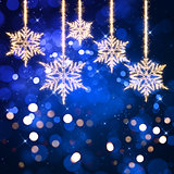 Christmas sparkle snowflake background