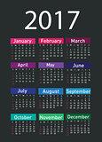 Calendar for 2017