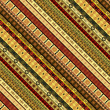 Decorative abstract seamless with ethnic motifs