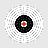 Target illustration for sport target shooting competition