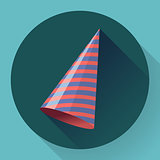 Vector icon of Party hat. Flat designed style.