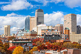 Boston Skyline in Autumn