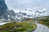 Mountain road at Dalsnibba plateau, Norway
