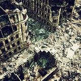 ruins of a city