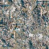 destroyed city land background