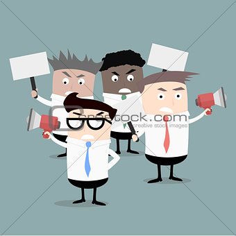 Business Men Protestors