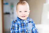 handsome smiling toddler boy