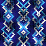 Ornate seamless knitted cool blue pattern
