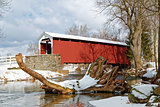 Lancaster County Covered Bridge in Winter