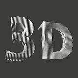 inscription-3D. illustration of 3D word. Vector illustration eps 10.