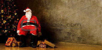 Tired Santa Claus