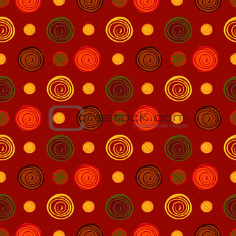 Abstract circles seamless pattern background.