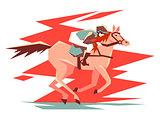 Equestrian horse racing