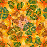 Seamless Ornament, Clover and Watercolor