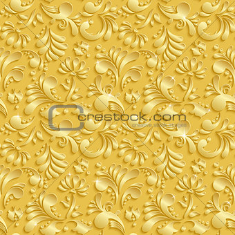 Abstract Floral 3d Seamless Pattern