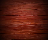 Realistic Mahogany wooden vector background