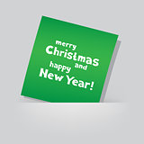 Christmas Greeting green card pocket