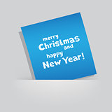 Christmas Greeting blue card pocket