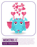 Illustration of a love monster