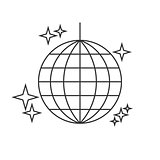 Disco ball line icon