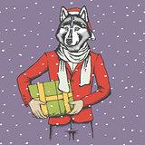 Husky vector illustration