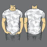 Vector gray t-shirts templates