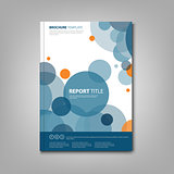 Brochures book or flyer with abstract blue circles