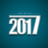 New Year abstract wishes with blue background
