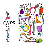 Cat collection, sketch for your design
