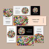 Business cards design, floral mandala