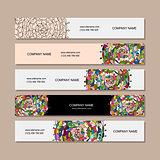 Banners design, floral mandala