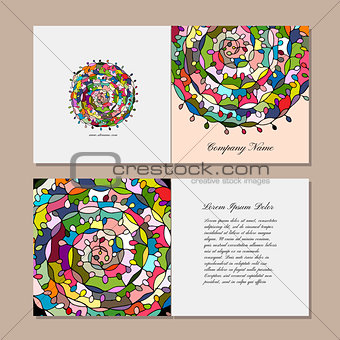 Greeting card design, floral mandala