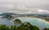 Bay of la Concha in San Sebastian, Spain