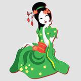 New geisha in a kimono.