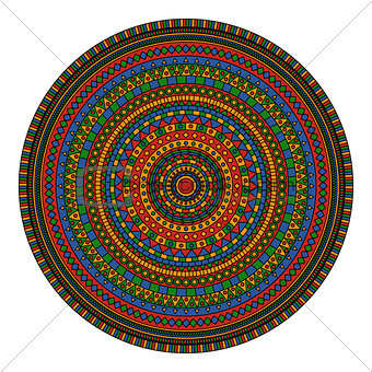 abstract vector doodle colored detailed bright mandala