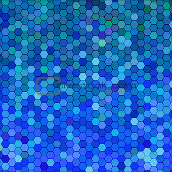 abstract vector geometric hexagon background