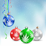 Christmas balls cannabis hemp