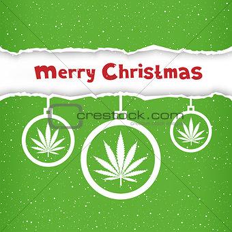 Christmas cannabis hemp congratulation