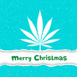 Christmas cannabis congratulation