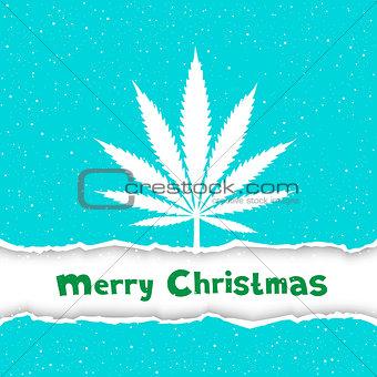 Christmas cannabis congratulation