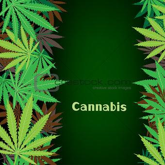cannabis hemp background