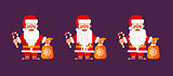 Character of Santa Claus in a flat style