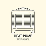 House Heating Logo Template